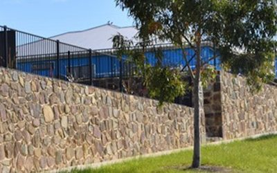 Rock-Retaining-Walls built at Coldstream